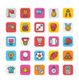 sports and games flat icons set 2 vector image
