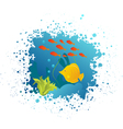 underwater grunge vector image