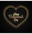 Valentines Day Heart Gold Glitter Background vector image