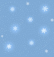 winter snowing background vector image