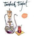 turkish teapot vector image