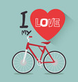 i love my bike label template vector image