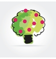 Abstract apple tree icon isolated on white vector image