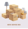 Move service box package cargo concept vector image