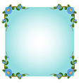 An empty template with plant borders vector image