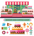 Bakery and coffee shop vector image