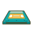 cartoon cassette tape music audio music vector image