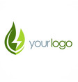 eco green leaf energy logo vector image