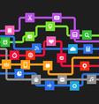 Modern media information abstract scheme vector image