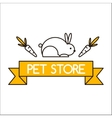 Pet shop symbols vector image