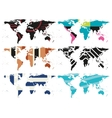set of Abstract World Maps vector image