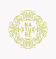 vintage template for natural cosmetics vector image