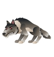 Wolf in cartoon style for your design needs vector image