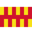 Flag of Northumberland vector image