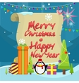 Winter Holidays Concept in Flat Design vector image vector image