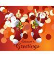 Santa sock vector image vector image