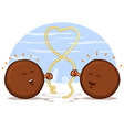 Meatball Heart vector image vector image