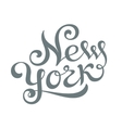 New York hand lettering vector image vector image