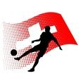 switzerland soccer player against national flag vector image vector image