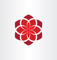 red flower icon background vector image