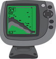 fishing finder vector image