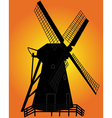 windmill silhouette vector image vector image