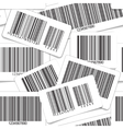 Barcodes monochrome seamless background vector image vector image