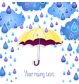 Background for the text with an umbrella vector image