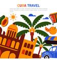 banner cuba tourism vector image
