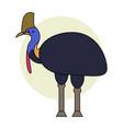 cassowary cartoon style vector image