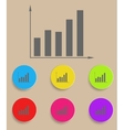 graph icon with color variations vector image