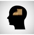 head silhouette black icon boot vector image