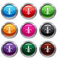 lily heraldic emblem set 9 collection vector image