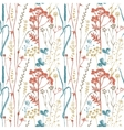 Seamless pattern with herbs and flowers vector image vector image