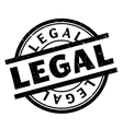 Legal rubber stamp vector image