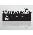 Construction site crane building strategy text vector image vector image