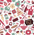 Seamless pattern of bakery and sweets vector image