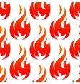 Fire flames with red blaze seamless pattern vector image