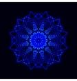 Abstract cosmic star snowflake vector image