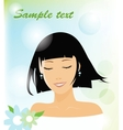 smiling woman vector image