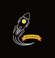 rocket ship launch vector image
