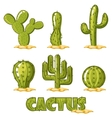 Cactus Collection vector image