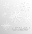 Abstract background with paper snowflakes vector image