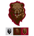angry grizzly bear sport logo template vector image