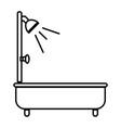 bathtub service isolated icon vector image