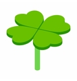 Four-leaf clover isometric 3d icon vector image