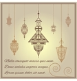 Greeting card vintage ethnic ornament style with vector image
