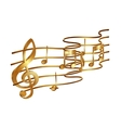 musical stave volume vector image