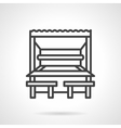 Park cafe black line design icon vector image