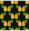 Seamless papaya pattern Harvest ornament Sliced vector image